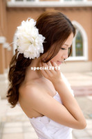Wholesale Wedding White Flowers Hair Accessories Bridal Hair Decorations New Fashion