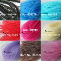 Wholesale Non Met Tubular Crin Yards of Crinoline Cyberlox Stretch Tubing for Hair Accessories mm colors available