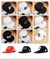Wholesale EXO XOXO FIRST YEAR KISS HUG CAPS HATS KRIS SEHUN KAI LAY KPOP FANGOODS NEW