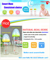 Wholesale Pigeon bottle wide mouth glass bottle baby newborn baby bottle ml anti flatulence