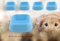 Wholesale 10pcs Small Mix Colors Square Dog Bowls Dog Treat Jars Pet Supplies For Puppy PE17
