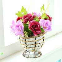 Wedding Other Household Sundries sanghera bowyer Hibiscus flowers set artificial flower silk flower artificial flower dried flowers set desktop coffee table shelf