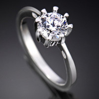 Wholesale Christmas Women Silver Rings Jewelry Charm Fashion Jewelries Gemstone Ring Party Gift RQ11