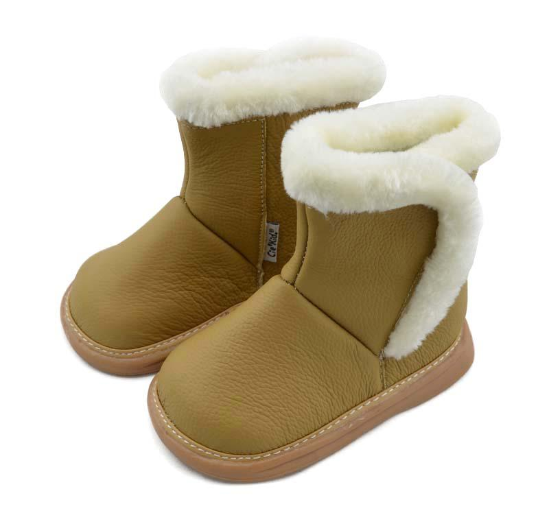 Girls Snow Boots,leather Baby Boots,party Boot, SQC11-yellow, Kids ...