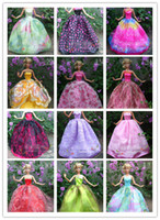 barbie doll clothes - 10 Doll Dresses Handmade Gown Dress Clothing For Barbie Doll Different Colors Styles