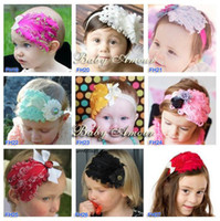 Lace baby amour - Baby Amour Newest Baby Feather Headband Girl Lace Hair Band Baby Accessories