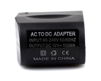 Wholesale AC V TO DC V Adapter for Car Charger Cable amp Car charger Eliminator Adaptor New Black J0339A