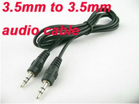 Wholesale HOT mm to mm Audio aux cable for mp3 mp4 iPod PC mm jack CM Free DHL Fedex