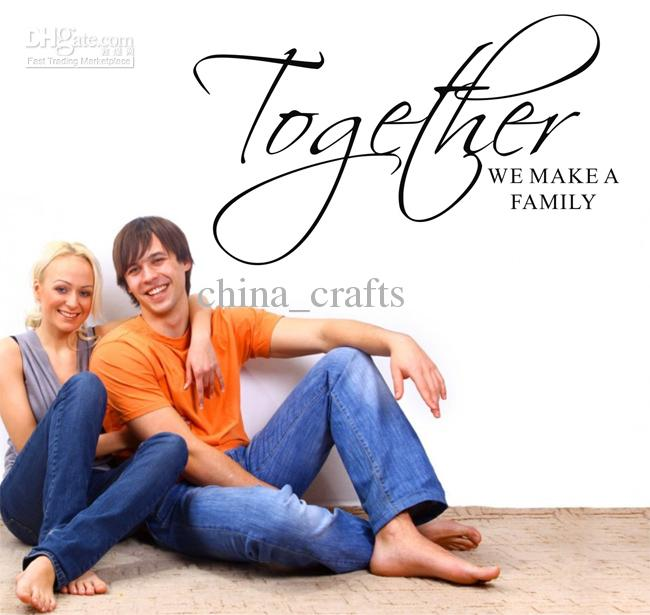 Together We Make A Family Wall Quotes Stickers Living Room Lettering Saying Art Decals 34x60cm Vinyl