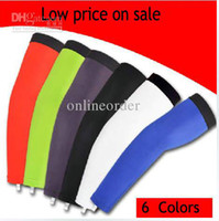 Wholesale Blank Cycling arm warmers arm cover sleeve Blue cycling arm sleeve
