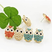 Wholesale Owl Earrings fashion wedding earrings jewelry charm stud earring earrings for women
