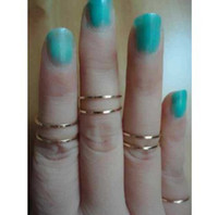 Fashion Rings Wedding Bands 2013 New Hot selling Gold Thin Shiny Rings, Gold Midi Knuckle Ring Free shipping