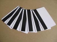 pvc card - 100 Blank PVC Plastic Cards Mil LoCo Magnetic Mag Stripe card with protective fill