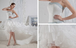 Wholesale White Satin Organza Strapless Spring Wedding Trends For Ladies