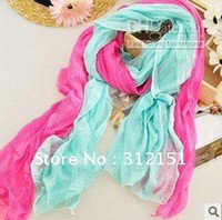Wholesale Wrinkles Candy Color Transparent Elegant Silk Scarf Shawl quot off per order quot