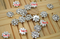 Wholesale Trail order mm mini bling Gems Crystal Button Spark Rhinestone Buttons Flat Back Decoration Accessory