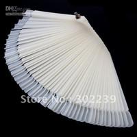 Wholesale White False Nail Art Tips Stick Display Practice Fan Board Free HB8187W Shipping Dropshipping