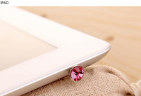 Wholesale Colourful Bling bling diamond mental Dustproof plug Anti dust for iphone sumsung ipad made of mental
