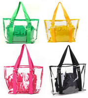 Wholesale Women s Transparent Clear Beach Casual Shoulder bag girl s purse lady s handbag