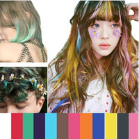 Wholesale New Creative Hair Care Product Women Ladies Hair Chalks Temporary Hair Color Pastel set Mixed colors