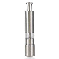 Wholesale NEW Stainless Steel Spring Loaded Pump and Grind Peppercorn Pepper or Spice Mill