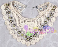 Wholesale handmade retro princess style lace false collar women detachable collars lady collar necklace neck tie women tie