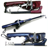 Wholesale New Arrival GW DL Convenient Integration portable CM sea fishing rod Fold fishing pole includeing fishing reel
