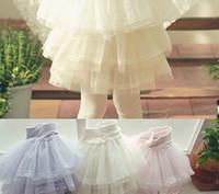 Wholesale Children Girls Multilayer Tulle Elegant Fairy Skirt Pants Pink Princess Girls Beige Purple Beautiful Tiered Gauze Skirt Leggings B0898