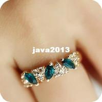 artificial sapphire - Fashion female artificial sapphire engagement rings g E1104