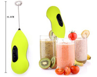 Wholesale Mini Handle Electric Mixer Coffee amp Egg Beaters Egg Whisk Milk Shake Frother With Color