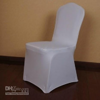 Wholesale Top Quality Pure White Spandex Banquet Chair Cover flat front for Hotel Party Wedding Supplies
