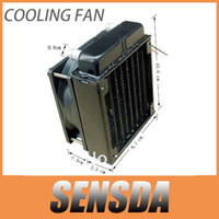 Yes aluminium radiator - 80mm aluminium radiator fan included water cooling