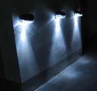Wholesale NEW Outdoor Path Wall Solar Powered LED Fence Light Lamp