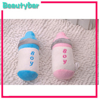 Wholesale Pet toys dog resistance to bite a small milk bottle cute vocalization plush toys