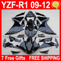 7 Free gifts ALL Black For YAMAYA YZFR1 09- 12 YZF- R1 YZF1000...