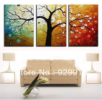 Cheap More Panel Money Tree Best Oil Painting Abstract Feng Shui