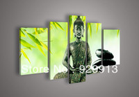 Cheap More Panel Decoration Buddha Best Oil Painting Abstract Buddha