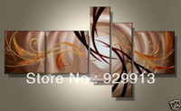 More Panel Oil Painting Abstract Framed 5 Panels Large Abstract Oil Painting Brown 5 Piece Canvas Wall Art Picture M0121