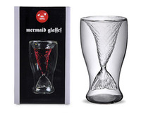 Wholesale 2013 Mermaid Cup Glass Beer Mug Glassware Y4025B