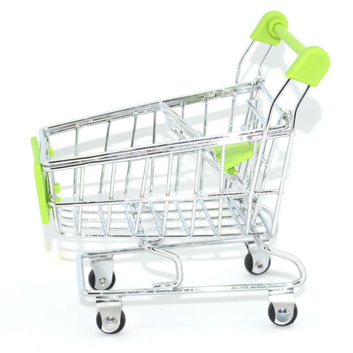 Mini supermarket handcart shopping cart mode green storage for 2nd hand beauty salon equipment