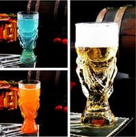 Beer Steins glassware - Hot Sale Creative Hercules Cup Glass Beer Mug ml Glassware Handmade Glass Valentine s Day Gift Y4023B