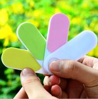 Wholesale Candy Color Rotary Both Sides Nail Polishing File Beautify Nails Rub Nail Sanding File