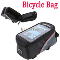 Wholesale New arrival roswheel inch Outdoor Cycling Riding Sport Bike Bicycle bag Frame Front Tube Bag for Cell Phone PVC