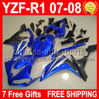 7 Free gifts HOT Blue black For YAMAYA YZFR1 07- 08 100%NEW Y...