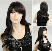 wavy Asian Wigs Christmas Wavy Hair Wigs Scroll Wigs Bangs Wigs Women Curl Wigs Oblique Bangs Hairs Ladies Cheap Wigs Hairs