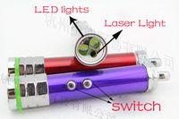 Wholesale new in Laser Light Mini aluminum flashlight LED Flashlight