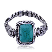 Wholesale 10 Turkey Blue Retro Square Bracelet bangles jewelry