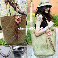 other straw mat - Fashion normic flower straw bag large capacity beach bag trend women s handbag mat bag brief casual