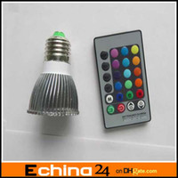 Wholesale 3W AC V E27 LED RGB Light Bulb Color Remote Control W LED Bulb Remote Control