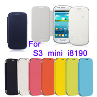 Plastic For Samsung For Christmas Comprehensive protection for your phone Front Flip Cover Case for samsung galaxy S 3 S3 mini i8190